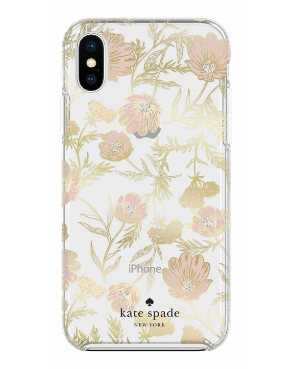 Kate Spade - Protective Hardshell Case Blossom Gold Foil for iPhone XS/X