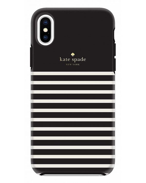 Kate Spade - Protective Hardshell Case Feeder Stripe for iPhone XS/X