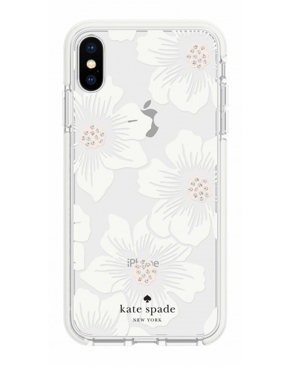 Kate Spade - Defensive Hardshell Case Reverse Hollyhock Floral for iPhone XS/X