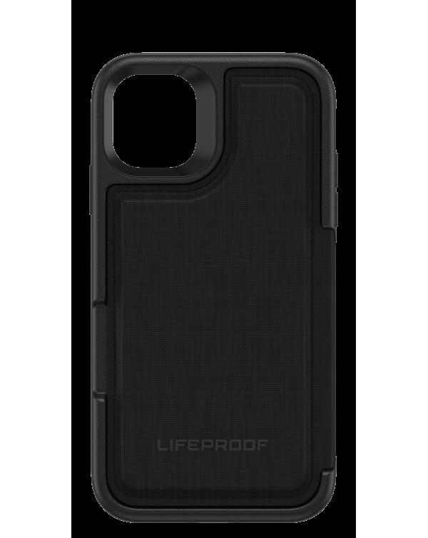LifeProof - Flip Dropprotective Wallet Case Dark Night (Black/Castlerock) for iPhone 11