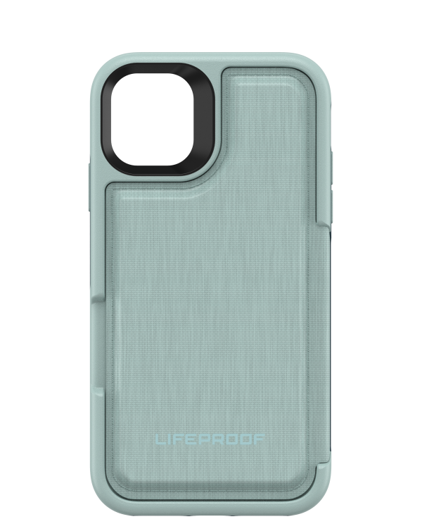 LifeProof - Flip Dropprotective Wallet Case Water Lily (Surf Spray/Dark Jade) for iPhone 11