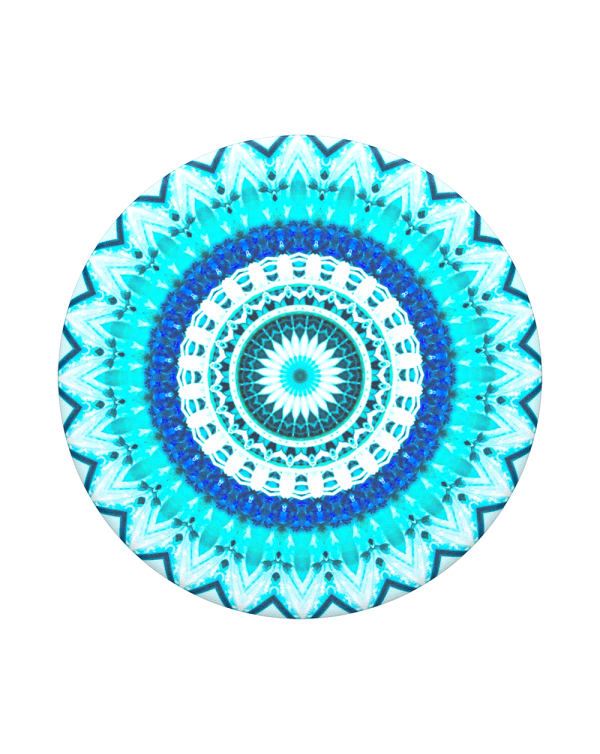 PopSockets - PopGrip (complete swappable PopGrip) Blue Floral Mandala
