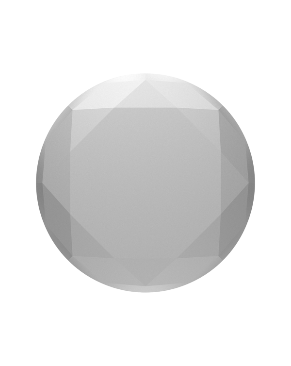 PopSockets - PopGrip (complete swappable PopGrip) Metallic Diamond Silver