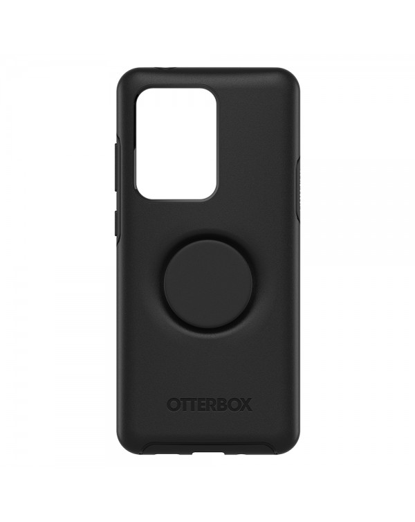 Otterbox - Otter + Pop Symmetry Case with Swappable PopTop Black for Samsung Galaxy S20 Ultra