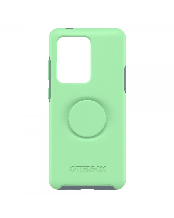 Otterbox - Otter + Pop Symmetry Case with Swappable PopTop Mint To Be for Samsung Galaxy S20 Ultra