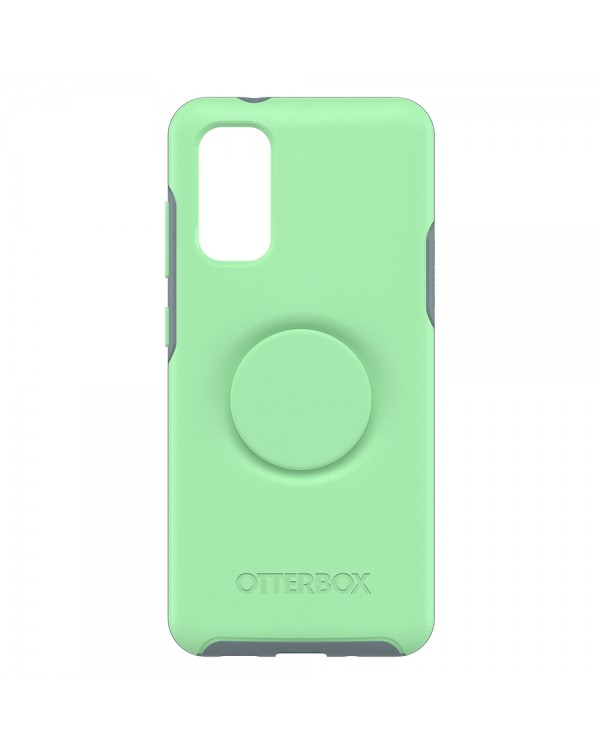 Otterbox - Otter + Pop Symmetry Case with Swappable PopTop Mint To Be for Samsung Galaxy S20