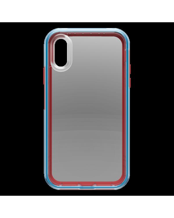 LifeProof - Slam Dropproof Case Varsity (Clear/Ocean) for iPhone XR
