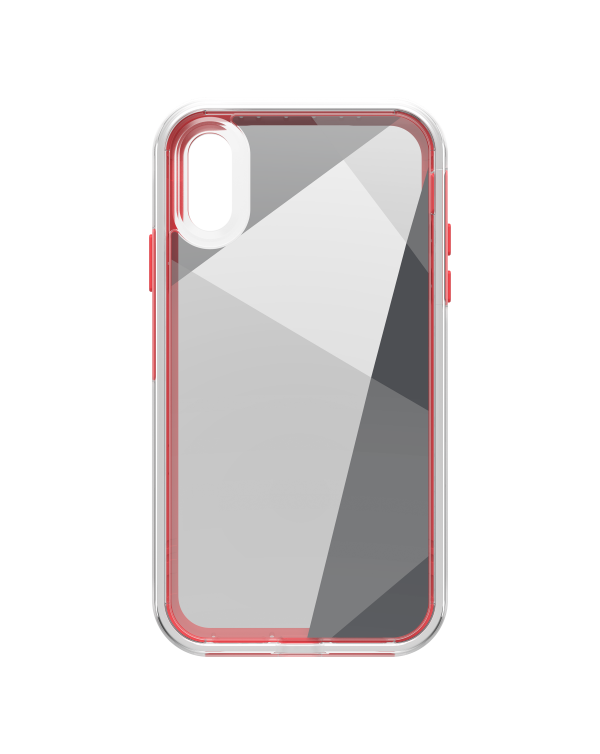 LifeProof - Slam Dropproof Case Whats The Angle (Clear/White/Coral) for iPhone XR