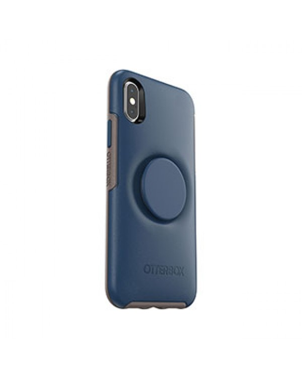iPhone X/Xs Otterbox + POP Blue/Grey (Go to Blue) Symmetry Series Case