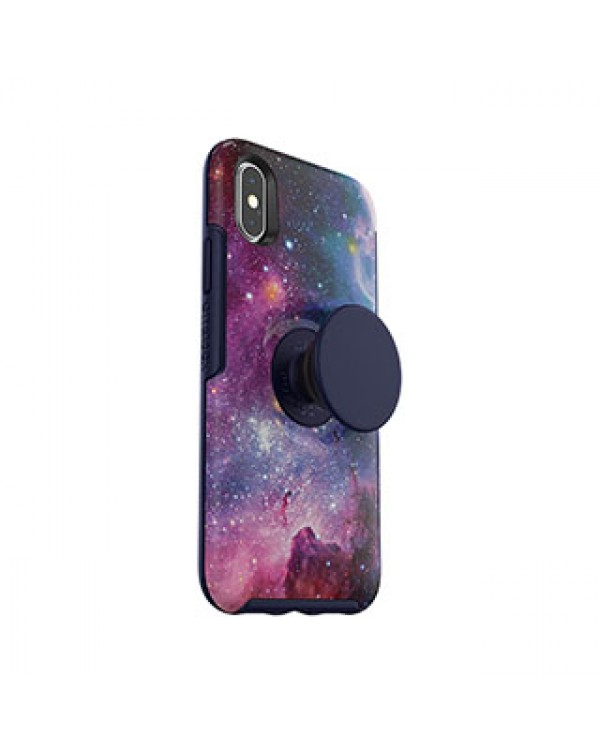 iPhone X/Xs Otterbox + POP Blue/Blue (Blue Nebula) Symmetry Series Case