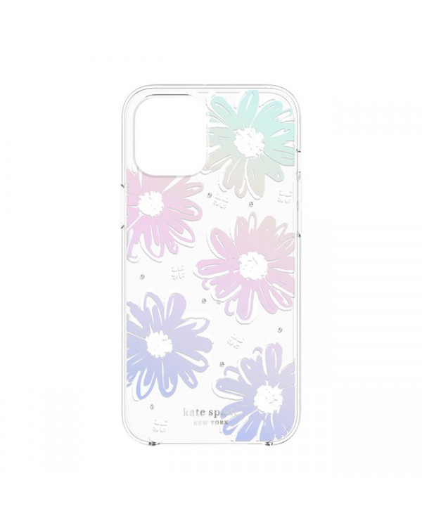 Kate Spade - Protective Hardshell Case Daisy Iridescent Foil for iPhone 12/12 Pro