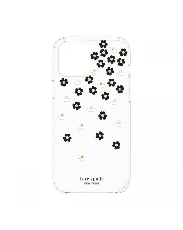 Kate Spade - Protective Hardshell Case Scattered Flowers for iPhone 12/12 Pro