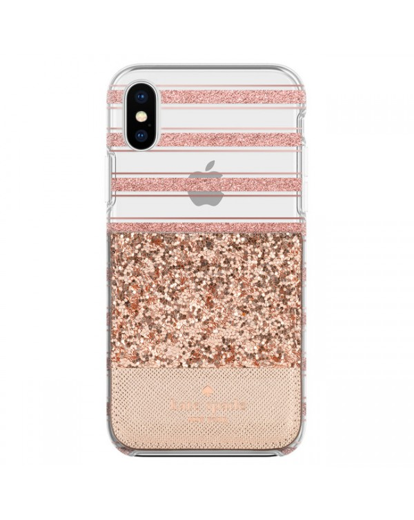 Kate Spade - Sticker Pocket Glitter Rose Gold