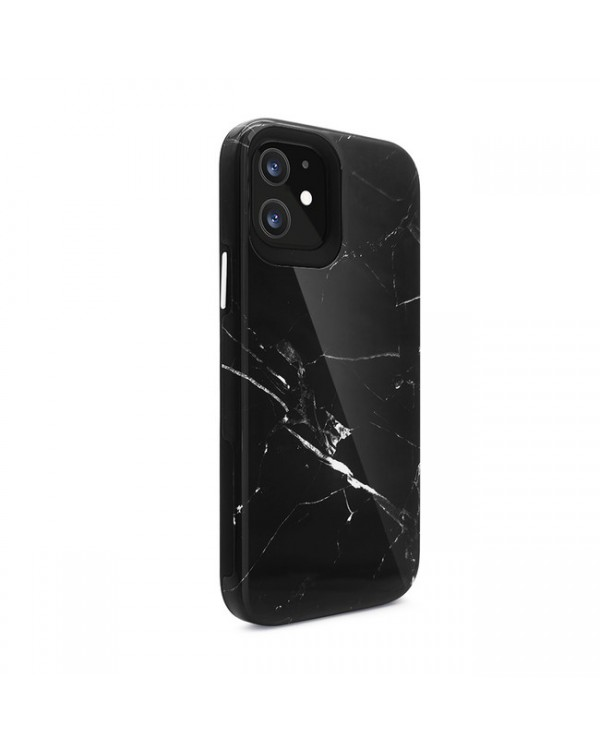 Blu Element - Mist 2X Fashion Case Black Marble Glossy for iPhone 12/12 Pro
