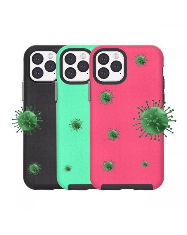 Blu Element - Armour 2X Fresh Kit Case Black/Pink/Teal for iPhone 12/12 Pro