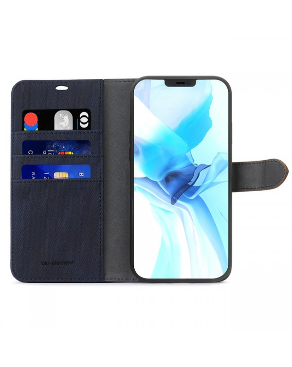 Blu Element - 2 in 1 Folio Case Navy/Tan for iPhone 12/12 Pro