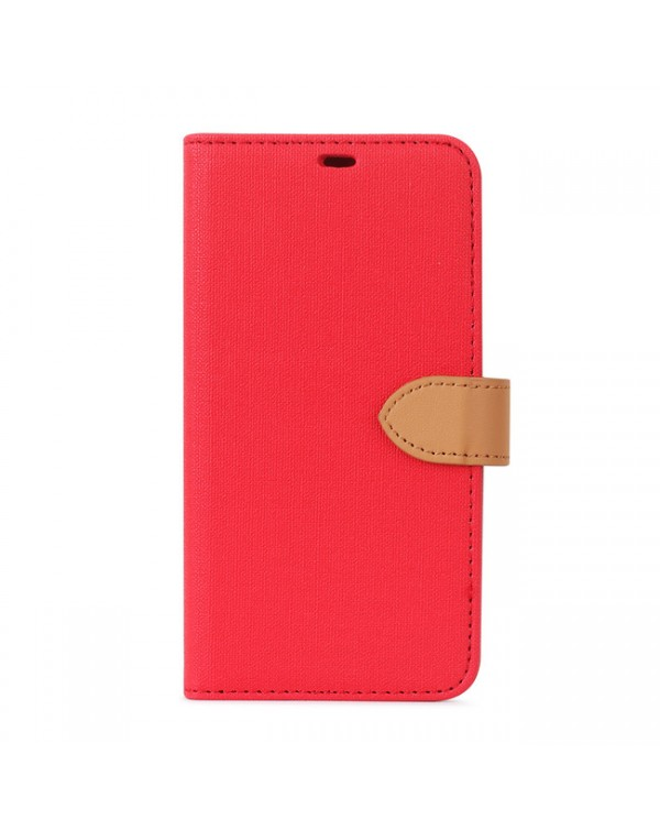 Blu Element - 2 in 1 Folio Case Red/Butterum for iPhone 12/12 Pro
