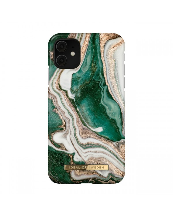 Ideal of Sweden - Fashion Case Golden Jade Marble for iPhone 11/XR