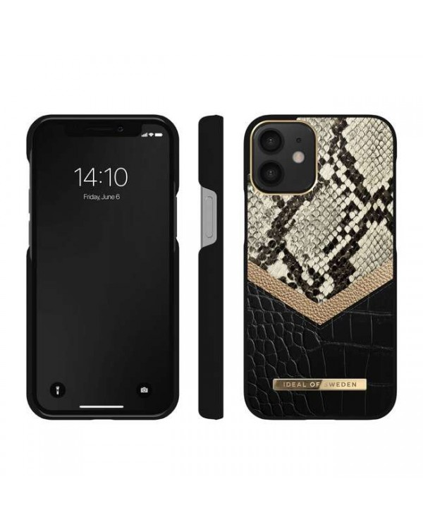 Ideal of Sweden - Atelier Fashion Case Midnight Python for iPhone 12 mini