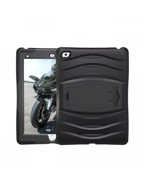 Bulk Packaging - Shock Wave Case with Stand Black for iPad 9.7 2018