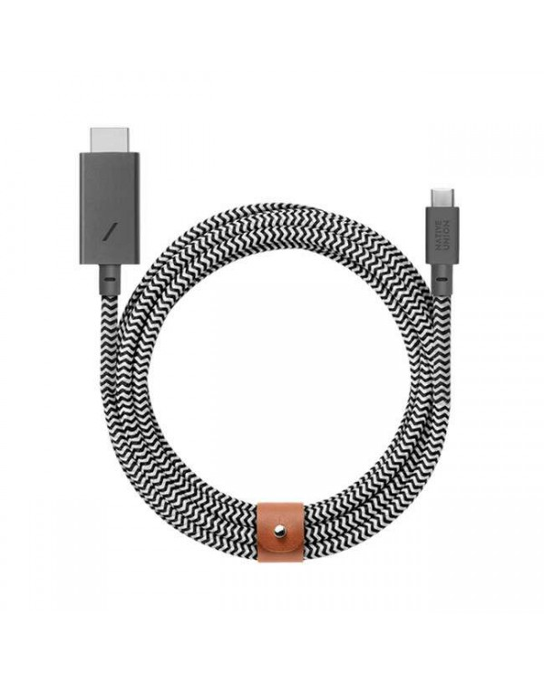 Native Union - Belt Cable Adapter USB-C to HDMI 10ft Zebra