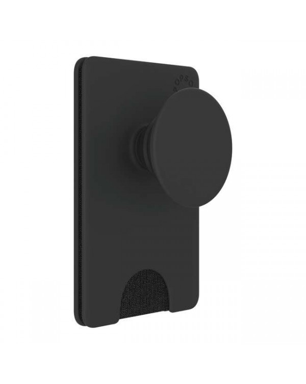 PopSockets - PopWallet+ (PopWallet with Swappable PopGrip) Black
