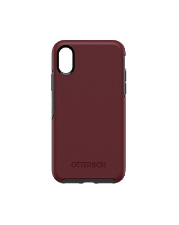 iPhone X/Xs Otterbox Burgundy/Grey (Fine Port) Symmetry Series case