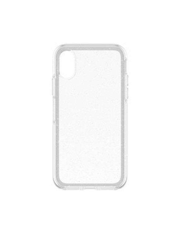 iPhone X/Xs Otterbox Clear/Silver Flake (Stardust) Symmetry Series case