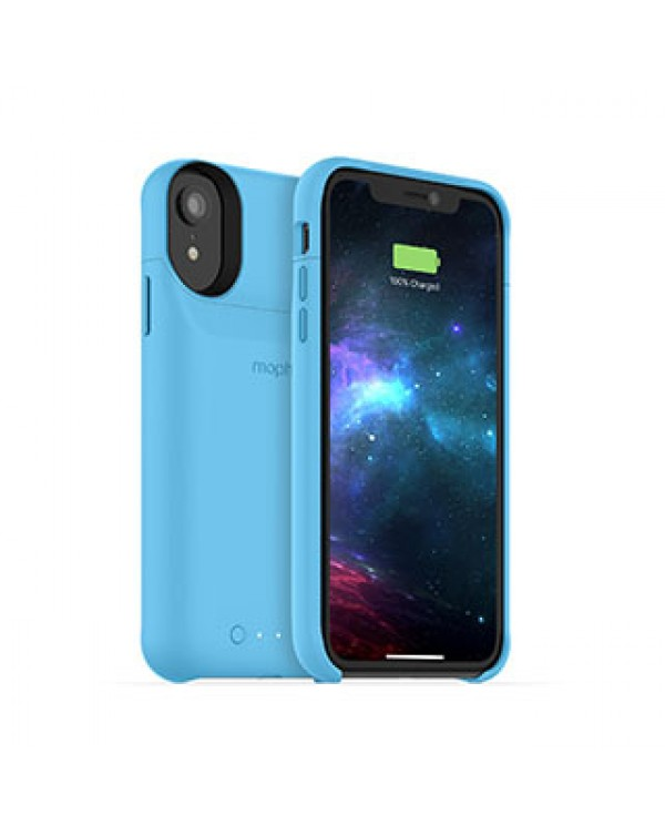 iPhone XR mophie blue juice pack access case w/ Qi