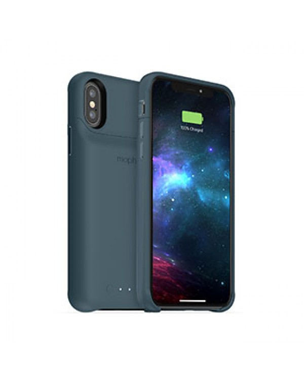 iPhone X/Xs mophie blue (stone) juice pack access case w/ Qi