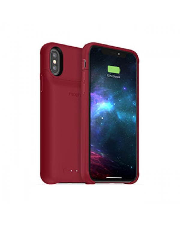 iPhone X/Xs mophie dark red juice pack access case w/ Qi