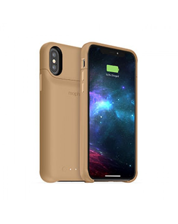 iPhone X/Xs mophie gold juice pack access case w/ Qi