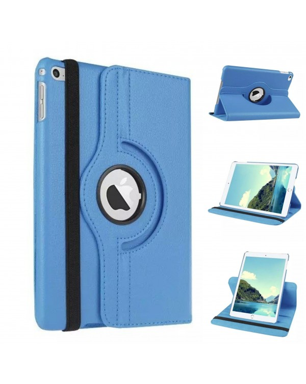 Rotating Flip Cover For Apple iPad Air 2 Light Blue