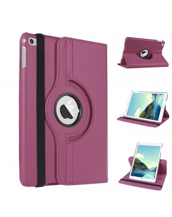 Rotating Flip Cover For Apple iPad Air 2 Purple