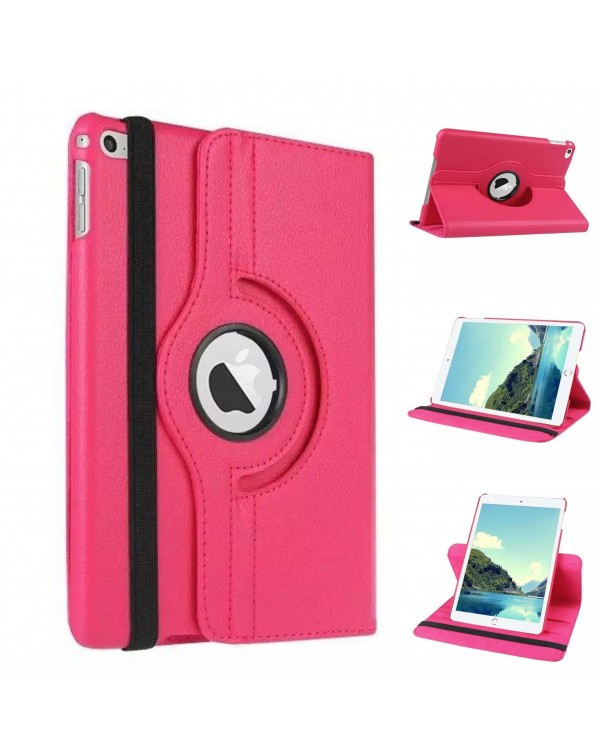 Rotating Flip Cover For Apple iPad Air 2 Hot Pink