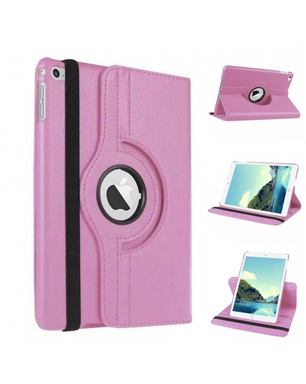 Rotating Flip Cover For Apple iPad Air 2 Light Pink