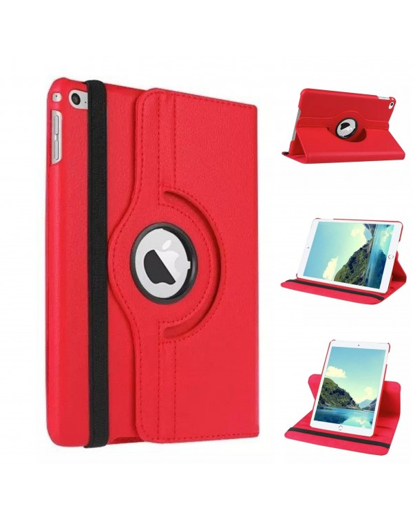 Rotating Flip Cover For Apple iPad Air 2 Red