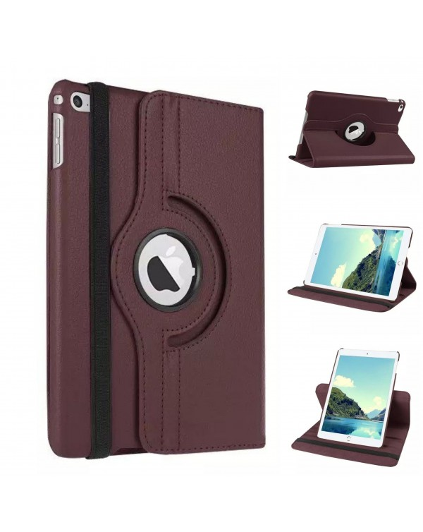 Rotating Flip Cover For Apple iPad Air 2 Brown