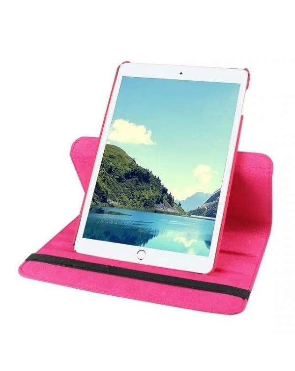 Rotating Flip Cover For Apple iPad Pro 9.7 Hot Pink