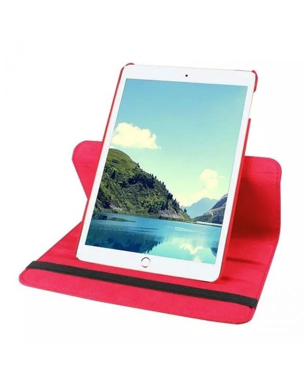 Rotating Flip Cover For Apple iPad 10.2 7th Gen (2019) Red