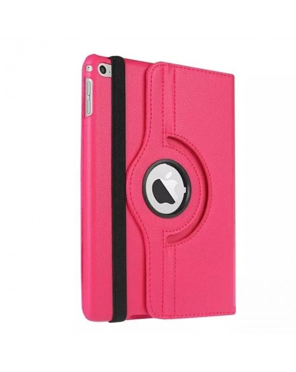 Rotating Flip Cover For Apple iPad 10.2 7th Gen (2019) Hot Pink