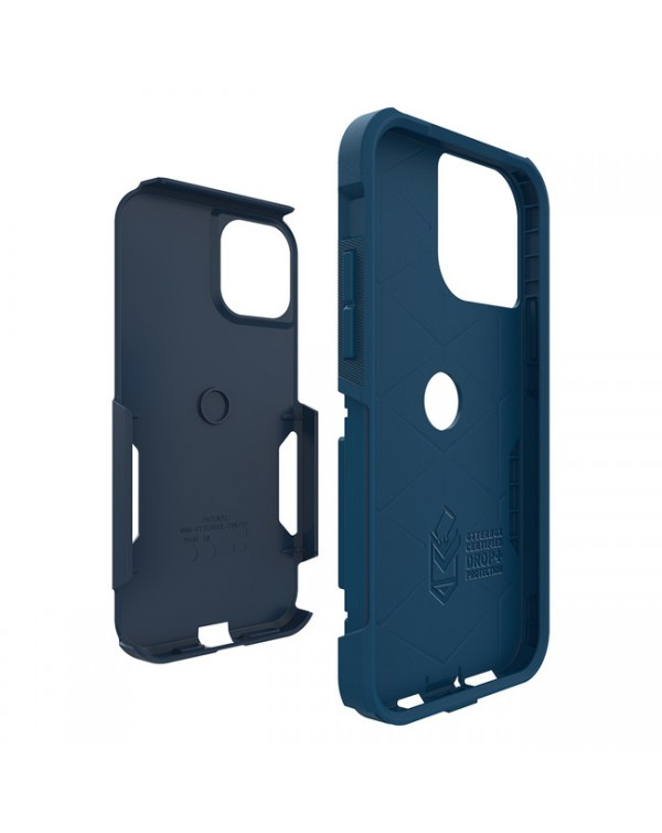 Otterbox - Commuter Protective Case Blazer Blue/Stormy Seas Blue for iPhone 12/12 Pro