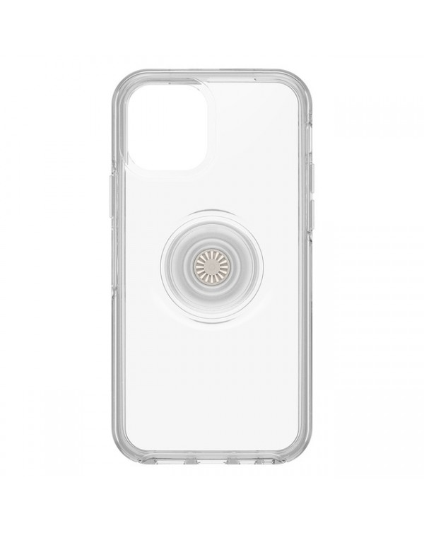 Otterbox - Otter + Pop Symmetry Clear Case with PopTop Clear/Off White for iPhone 12/12 Pro