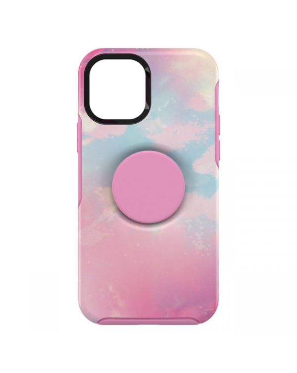 Otterbox - Otter + Pop Symmetry Case with PopTop Stiletto Pink/Daydreamer for iPhone 12/12 Pro