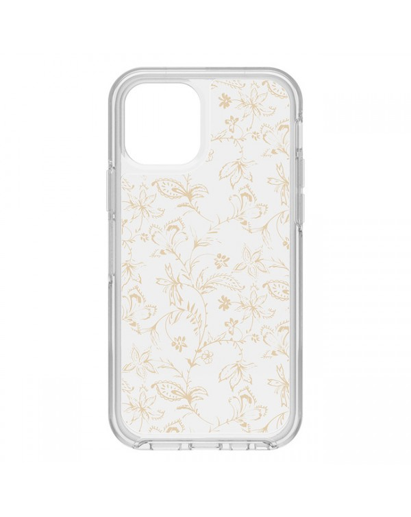 Otterbox - Symmetry Clear Protective Case Clear/Clearwallflower for iPhone 12/12 Pro