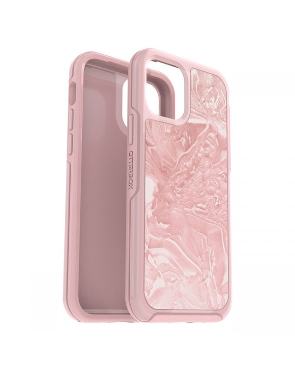Otterbox - Symmetry Clear Protective Case Pink Interference/Shell-Shocked for iPhone 12/12 Pro