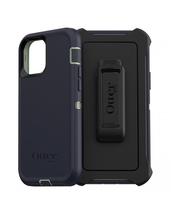 Otterbox - Defender Protective Case Desert Sage/Dress Blues for iPhone 12/12 Pro