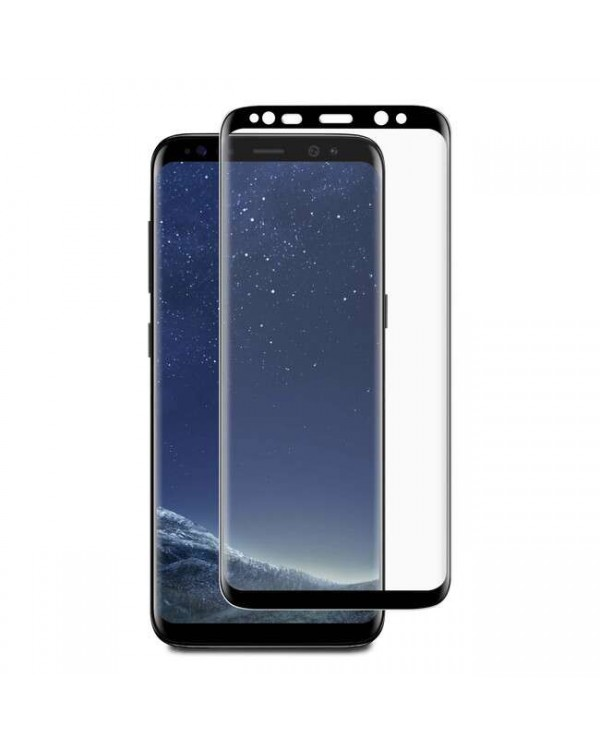 3D Curved Glass Screen Protector Case Friendly Black for Samsung Galaxy S8+