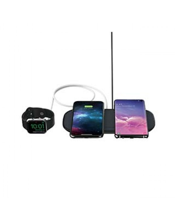 mophie 20W black wireless dual charge base